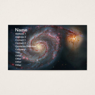 M51 Whirlpool Spiral Galaxy NASA Business Card