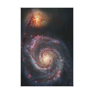 M51 Whirlpool Spiral Galaxy NASA Canvas Print