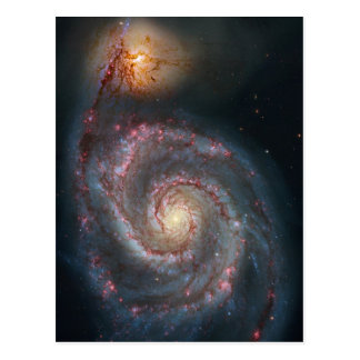 M51 Whirlpool Spiral Galaxy NASA Postcard