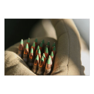 M855 5.56 mm ball rounds poster