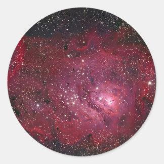 M8 Lagoon Nebula NGC 6523 Classic Round Sticker