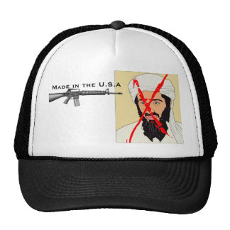 """M-16 """"Made in the USA"""" got Osama Trucker Hat"""