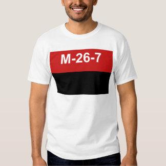 M-26-7 Flag -  Bandera del Movimiento 26 de Julio. T-shirts
