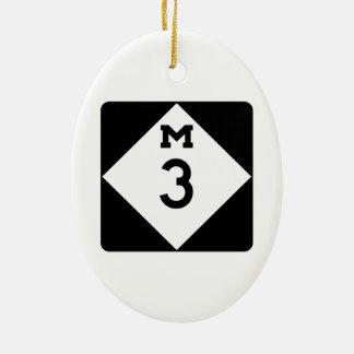 M-3, Michigan, USA Christmas Ornament