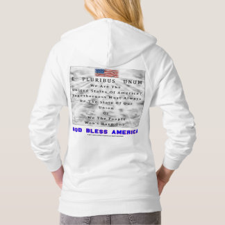 M. A. C. & B. - GOD BLESS AMERICA in Blue Letters Hoodie