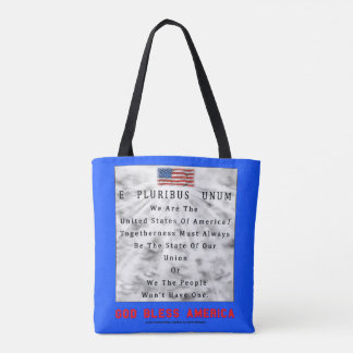 M. A. C. & B. - GOD BLESS AMERICA in Red Letters Tote Bag
