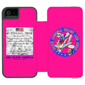 M. A. C. & B – GOD BLESS AMERICA INCIPIO WATSON™ iPhone 5 WALLET CASE
