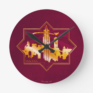 M.A.C.U.S.A. Graphic Badge Wall Clocks