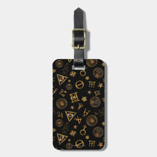 M.A.C.U.S.A. Magic Symbols And Crests Pattern Luggage Tag