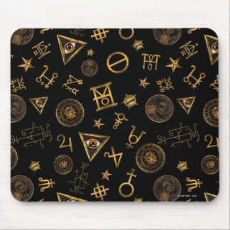 M.A.C.U.S.A. Magic Symbols And Crests Pattern Mouse Pad
