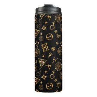 M.A.C.U.S.A. Magic Symbols And Crests Pattern Thermal Tumbler