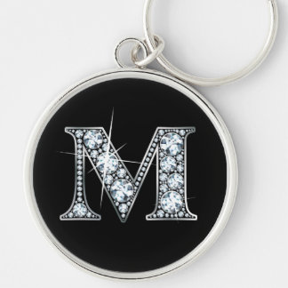 """M"" Diamond Bling Keychain"