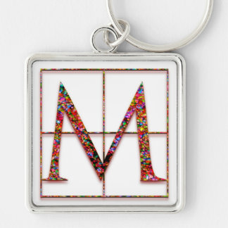 "M Initial ""Celtic Bricks"" Key Chain"