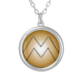 M initial letter necklaces