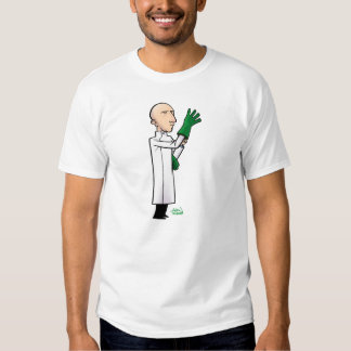m is for mad scientist tee shirt