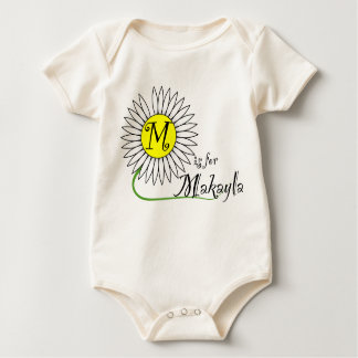 M is for Makayla Daisy Baby Bodysuit