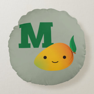 M is for Mango Round Cushion