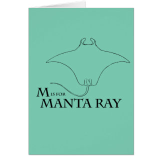 M is for Manta Ray greeting card