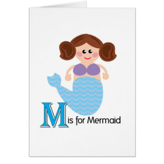 M is for Mermaid Loveable Letters Greeting Card