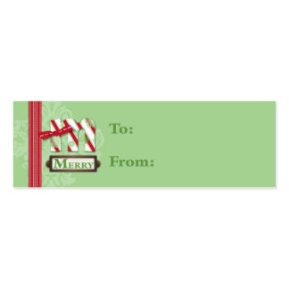 M is for Merry Skinny Gift Tag Business Cards