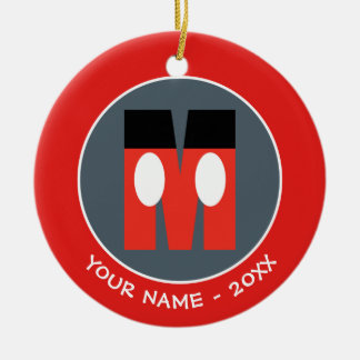 M is for Mickey | Add Your Name Ceramic Ornament