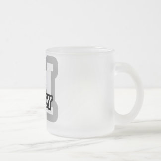 M is for Miley Frosted Glass Coffee Mug