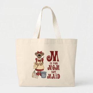 M is for Mom Canvas Bags