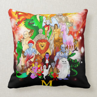 M is For Mythical Throw Pillow