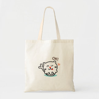 M Leo the Merlion says OK Tote Bag
