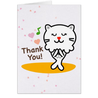 M Leo the Merlion says Thank You Blank Card