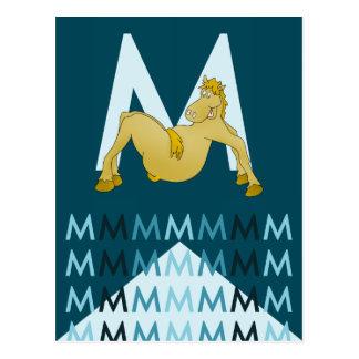 M Letter  Dark blue card Flexible pony bunting.