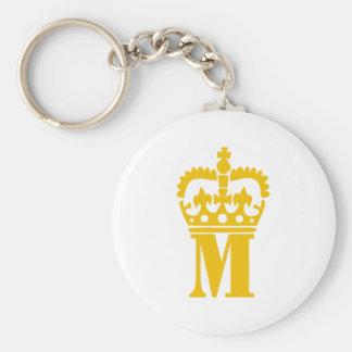M - Letter - Name Key Ring