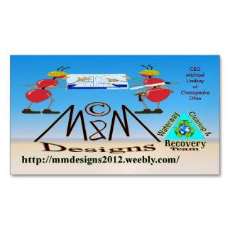 M & M Deisgns BIZ card 2 Magnetic Business Cards