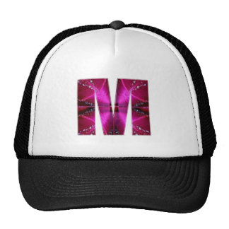 M MM MMM  ALPHABETS ALPHA TRUCKER HAT