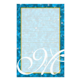 "M Monogram ""Stary Sky"" Fine Lined Stationery"