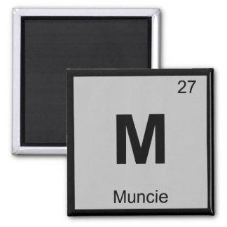 M - Muncie Indiana Chemistry Periodic Table Symbol Square Magnet