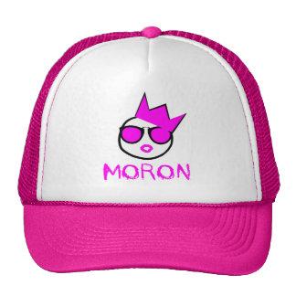 M.O.R.O.N. Pink & White Trucker Hat