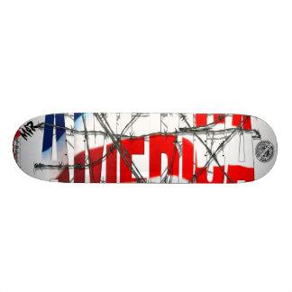 "M$R ""Red, White & Barbed Wire"" Pro Model Custom Skateboard"