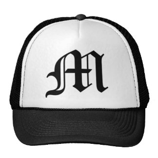 M-text Old English Trucker Hat