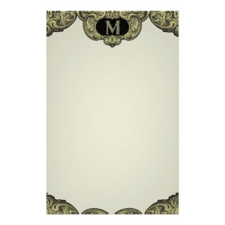 M - The Falck Alphabet (Golden) Personalized Stationery