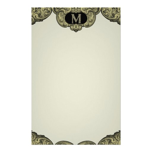 M - The Falck Alphabet (Golden) Stationery Paper
