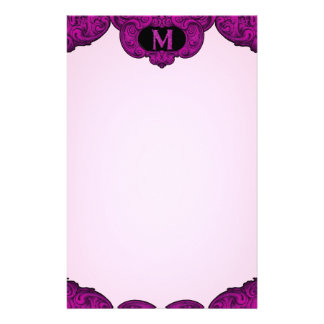 M - The Falck Alphabet Pink Stationery