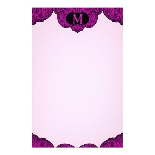 M - The Falck Alphabet (Pink) Stationery