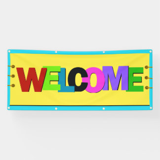 M Welcome Banner Replicating Aerial
