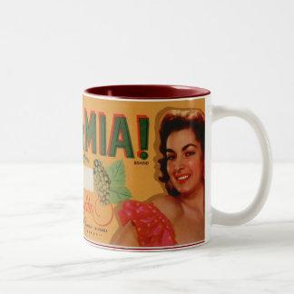 Ma Ma Mia Grapes Two-Tone Coffee Mug