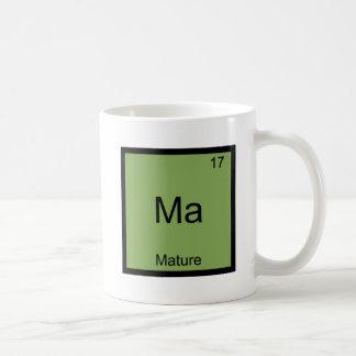 Ma - Mature Funny Chemistry Element Symbol Tee Basic White Mug