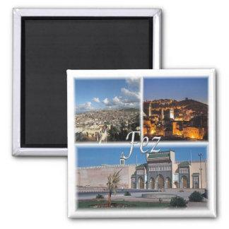 MA * Morocco - - Fez Square Magnet