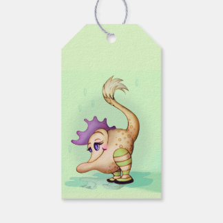 MA POULE FUNNY ALIEN CARTOON  GIFT TAG