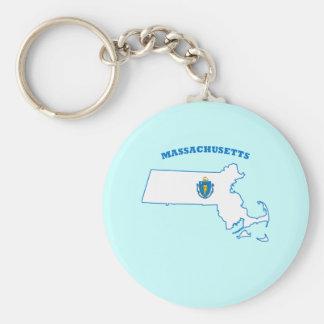 MA State Flag Key Ring