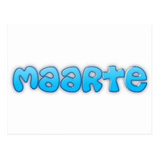 MAARTE POSTCARD